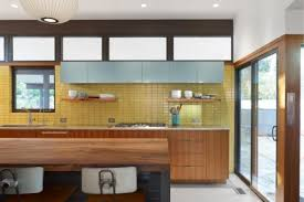 Tile By Style Kitchen With A Serving Of Mid Century Fireclay Tile