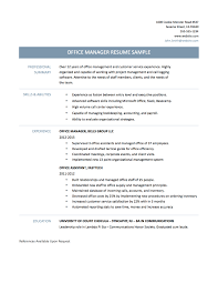 office manager resume resume samples office manager
