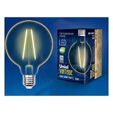 Светодиодная <b>лампа Uniel LED-G95-4W/GOLDEN/E27 GLV21GO</b> ...