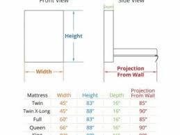 Murphy Beds MurphyBed Source  Dimensions Of Full Size Mattress Mattress  Ideas