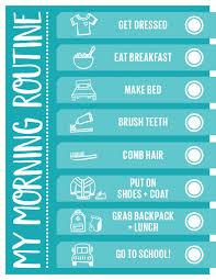 Handy Printable Morning Routine Checklist