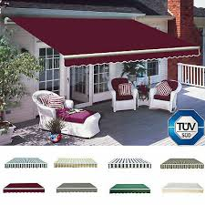 manual awning canopy outdoor patio