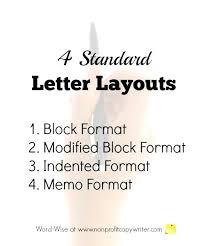 Sample Professional Letter Formats Standard Writing Format Proper ...