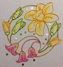 Combine Embroidery Designs Simple Floral Designs For Fabric Painting Learn How To