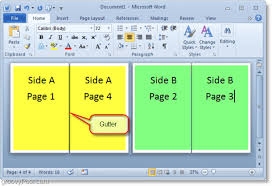How To Create A Pamphlet In Word 2010 How To Create Booklets Using Microsoft Word 2010