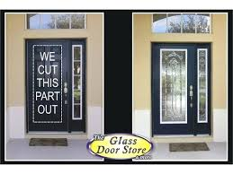 astonishing exterior metal doors with glass glass insert installed in front door and sidelight