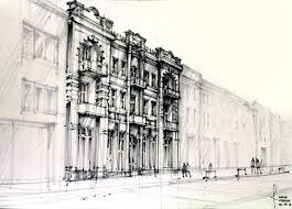 architecture drawing. Pen \u0026 Pencil Architecture Drawings Drawing R