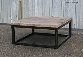 custom made reclaimed wood coffee table rustic urban end table modern vintage industrial