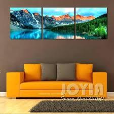 nature canvas wall art nature canvas wall art 3 panel nature scenery wall art mountain lake