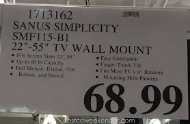 deal for the s simplicity smf115 b1 tv wall mount at costco