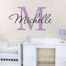 aliexpress buy custom name wall stickers ba nursery regarding custom name wall decals plan  on personalized name wall art for nursery with custom name monogram name wall sticker for kids or adults for custom