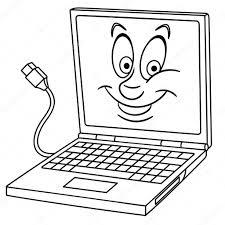 Laptop Notebook Computer Kleurplaat Kleuren Foto Kleurboek