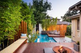 Modern Landscaping Ideas for Small Backyards complete with Pool plus