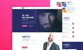 resume web templates personal resume website template online cv updrill co