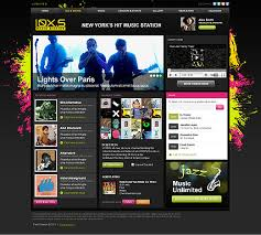 Dreamweaver Website Templates Extraordinary Music Station HTML Template ID48