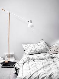 graphic black and white bedding