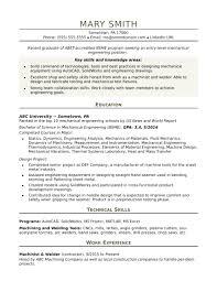 Mechanical Engineer Entry Level Inspirational Engineering Resume