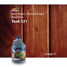 Dulux Woodcare Diamond Tough Water Based Wood Stain Teak 121