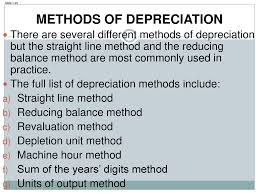 Different Depreciation Methods Capital Revenue Expenditure And Year End Adjustments Ppt Download