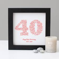 personalised 40th wedding anniversary gift