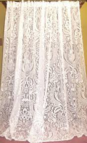 old fashioned lace curtains vintage chic french country cottage net fl lace ds curtains pr old