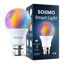Led Light Bulbs Amazon Amazon Brand Solimo Smart Led Light 9w B22 Holder Alexa Enabled