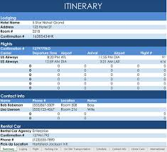 Sample Itinerary Forms Travel Agency Itinerary Template Radiovkm Tk