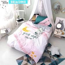 pink duvet sets cartoon pink duvet cover children twin size moon bedding sets cotton print bed pink duvet sets pink bedding