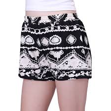 Womens Patterned Shorts Awesome HDE Womens Plus Size Shorts Patterned Casual Pull On Elastic Waist