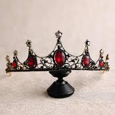 <b>New Baroque Retro</b> Black Crown Bride Headdress Wedding tiara ...