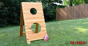 Wooden Game Plans DIY Football Toss Game FixThisBuildThat 87