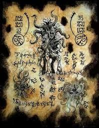hp lovecraft lovecraft cthulhu demonology necromancer spell books larp lovecraftian horror dark art monster old book pages weird creatures demons