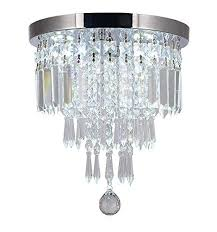 moooni mini crystal chandelier modern flush mount ceiling light fixture pendant ceiling lamp round chandeliers for dining rooms hallway foyer entrance d 10