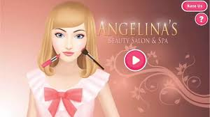 barbie angelina s beauty salon spa dress up makeup manicure hair care game android ios gameplay you