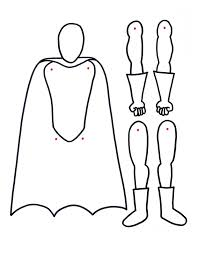 Superhero Printable With Movable Arms And