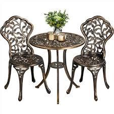3 piece patio bistro table set outdoor