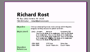 Making A Resume Using Microsoft Word 2007 Professional Resume Cv Maker