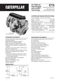 Caterpillar C13 Engine Specs | Diesel Engine | Horsepower