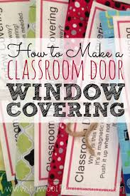 Door Window Cover Classroom Door Window Covering