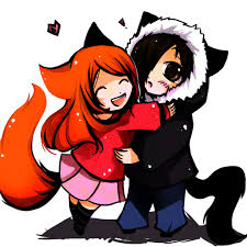 anime chibi cat couples. Plain Anime Chibi Wolf Couple  Photo15 For Anime Cat Couples N