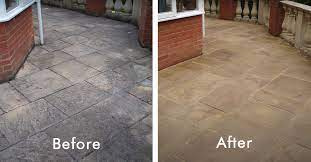 how to clean natural stone patio and