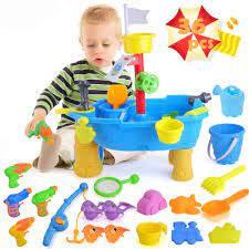 Amazon.com: unanscre 36Pcs Sand Water Table for Toddlers with Beach Sand  Toys, Magnetic Fishing Game, Cute Water Pistols, Baby Water Activity Play  Table for Kids, Gifts for Age3+ Boys&Girls Outdoor Toys: Toys