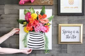watch how to make your own 3d floral wall art with this easy diy tutorial on 3d flower wall canvas art with watch how to make your own 3d floral wall art with this easy diy