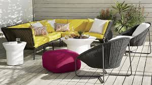 crate barrel outdoor furniture. view in gallery bright yellow outdoor seating from crate u0026 barrel furniture