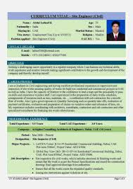 Resume Format For Engineering Student In India Augustais