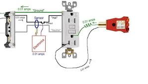 two gfci outlet wiring diagram gfcis on 2 wire residential branch circuits wiring a gfci