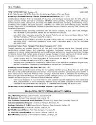 Of Business Planning Resume