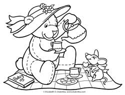 Small Picture Tea Party Free Coloring Pages on Art Coloring Pages