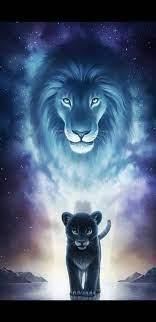A Dream, cats, galaxy, lion, lions, HD ...