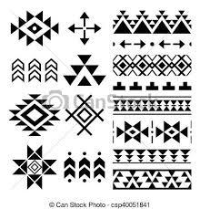 Navajo Pattern Classy Navajo Print Aztec Pattern Tribal Vector Folk Seamless Aztec